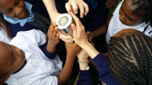 Children grasp the baton in Birmingham