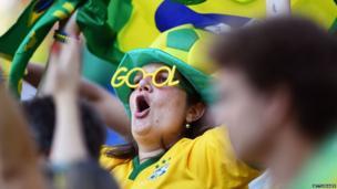 A fan in Brazilian colours