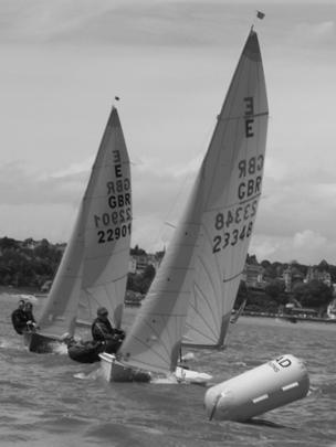 Dinghies racing in the Bristol Channel off Penarth, Vale of Glamorgan