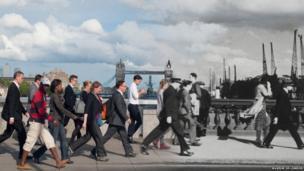 London Bridge, 1937, by Henry Turner