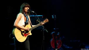 Chrissie Hynde performs on stage for James Lavelle's Meltdown at the Royal Festival Hall