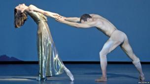 Svetlana Gileva and Jiri Bubenicek dance during the rehearsal of Legends – Homage to Richard Strauss in Dresden, Germany