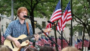 Ed Sheeran in New York