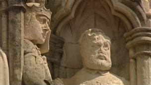 Statues on Truro Cathedral