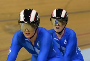 Aileen McGlynn wins Scotland's first medal of the 2014 Commonwealth Games. She picked up silver in the para-sport sprint B tandem at the Sir Chris Hoy Velodrome