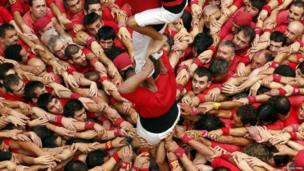 human tower called