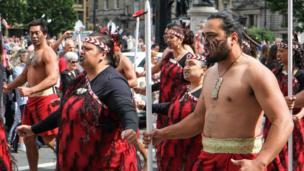 Maori act in George Square