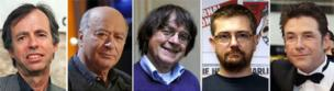 Five of the victims known to have died in the attack, including deputy chief editor Bernard Maris, Georges Wolinsky, Jean Cabut, Stephane Charbonnier and Bernard Verlhac.