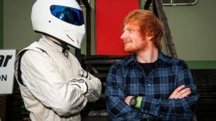 Ed Sheeran crashes Top Gear car