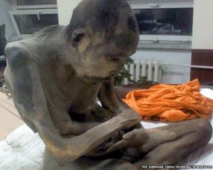 The mummified monk found on 27 January in Mongolia