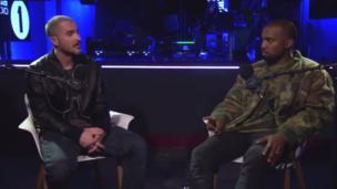 Kanye breaks down in interview with Zane