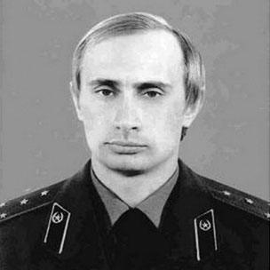 Vladimir Putin in KGB uniform