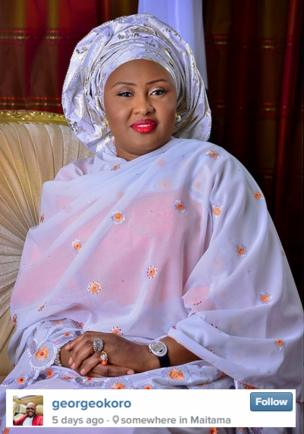 This photo of Nigeria's first lady wearing an expensive-looking watch outraged many on social media