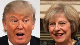 President Donald Trump and Prime apportion Theresa May