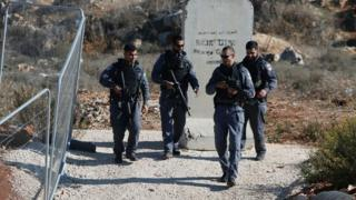 İsrail sınır güvenlik polisleri