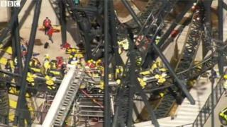 Aftermath of the Alton Towers Smiler crash