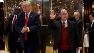 Donald Trump y Masayoshi Son