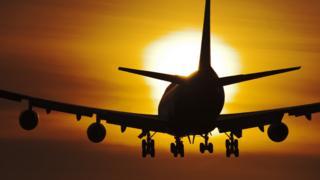 Самолет, идущий на посадку
