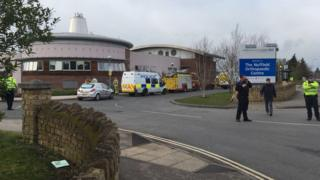 Police at Nuffield