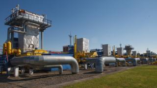 Bilche-Volytsko-Uherske underground gas storage facility in western Ukraine