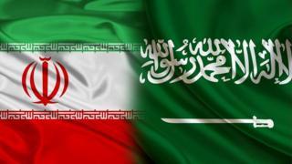 پرچمهای ایران و سعودی