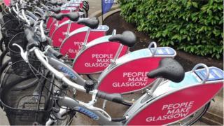 Glasgow bike hire station