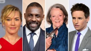 Kate Winslet, Idris Elba, Dame Maggie Smith and Eddie Redmayne