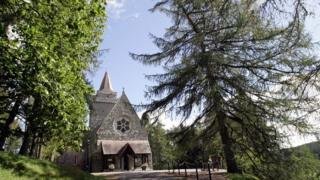Crathie Kirk, Crathie Parish Church, where the Royal family attend Sunday Service when in residence at Balmoral
