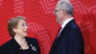 Michelle Bachelet y Pedro Pablo Kuczynski