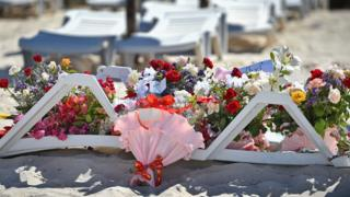 Flowers at the scene of the attack