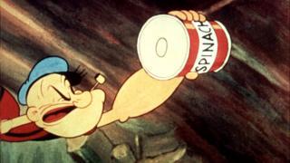 Popeye con lata de espinaca
