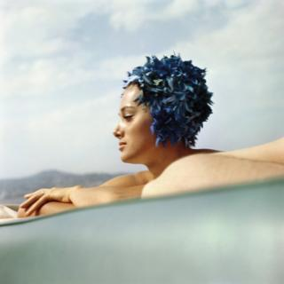 Sylvia Empain, Juan-les-Pins, August 1961