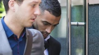 "Leicester City footballer Danny Simpson arrives at Manchester Magistrates"" Court"