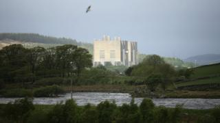The decommissioned power station at Trawsfynydd