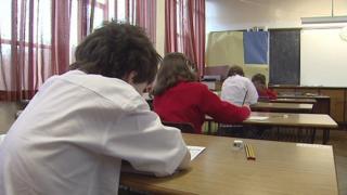Children in exam hall