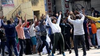 Image copyright manoj dhaka image caption protesters from the jat