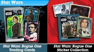 Topps Star Wars card collection