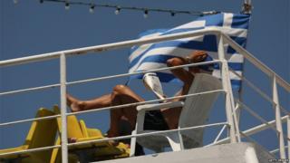 Tourist at Piraeus (8 July)