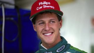 Michael Schumacher de 22 años