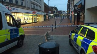 Cordon in Derby after stabbing