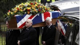 Graham Taylor's coffin