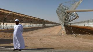 Shams 1, Concentrated Solar Power plant, in al-Gharibiyah Abu Dhabi (17 March 2013)