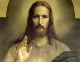 Jesus as he is often depicted - with long hair and a short beard
