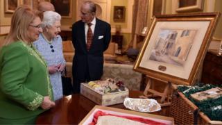 The Queen, Prince Philip and Malta's President Marie-Louise Coleiro Preca