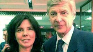 Helen Bailey with Arsene Wenger