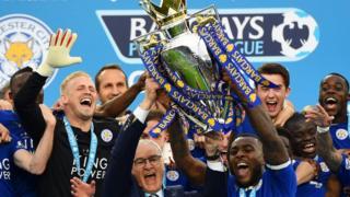 Leicester City's Premier League party