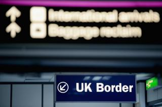 Border sign - UK airport