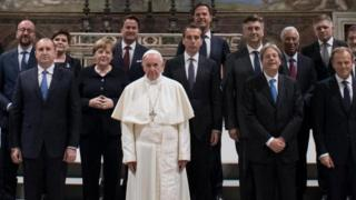 Papa ve AB liderleri