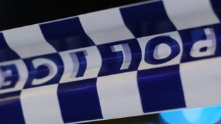 Generic police tape shot