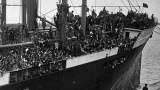 Lots of children on the Habana ship